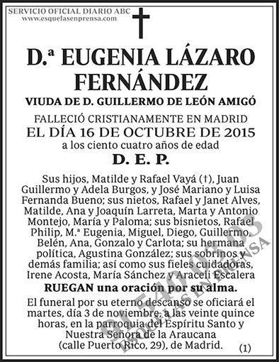 Eugenia Lázaro Fernández